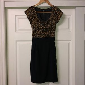Black and leopard dress